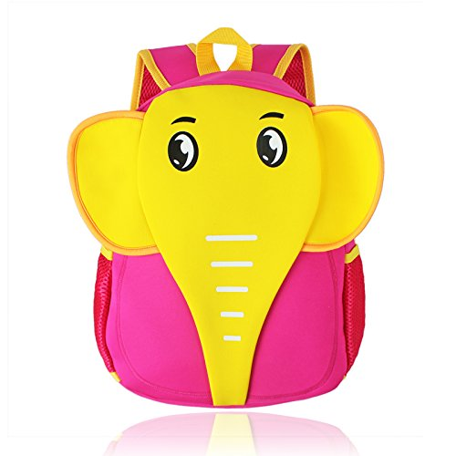 Children Toddler Kid's Backpack 3D Zoo Animal Cartoon Pre School Backpack - Elephant Pattern Pink