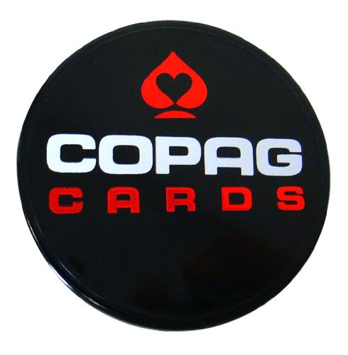Double Sided Black Copag Poker Dealer Button - Comes with 2 Free Blind ()