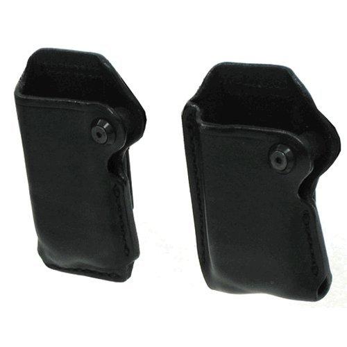 BLACKHAWK! Leather Magazine Pouch , Black, (9 mm/ 10mm/.40 C