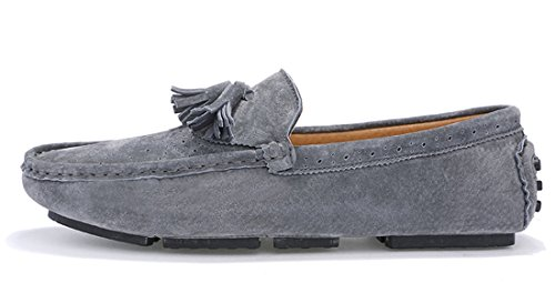 Penny Casual TDA Business Grey Driving Loafers Leather Mens Classic nq616F4S