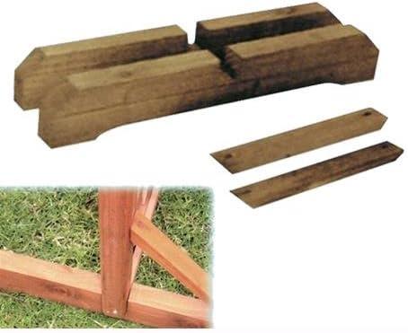 Supporti Di Base Per Pannelli In Legno Patio 44x3x7cm Foro 3,5x3,5cm