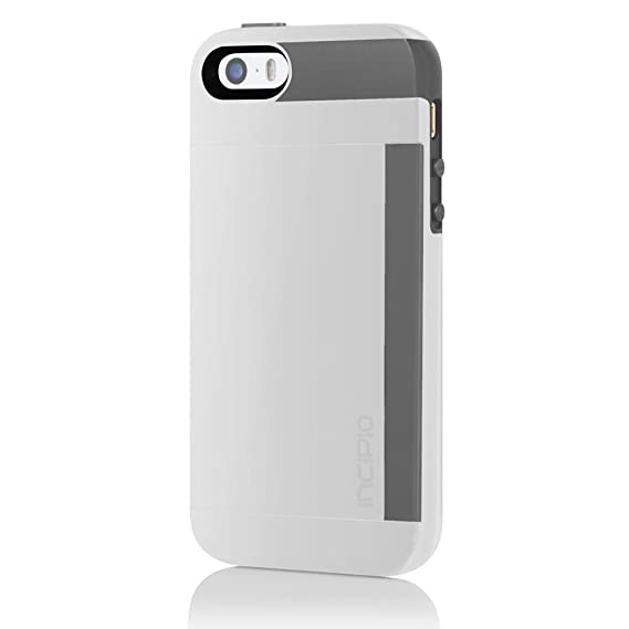 separation shoes f754d f9426 Incipio Stowaway Wallet Credit Card Hard Protective Case for iPhone 5 5S SE  Cover-White/Gray