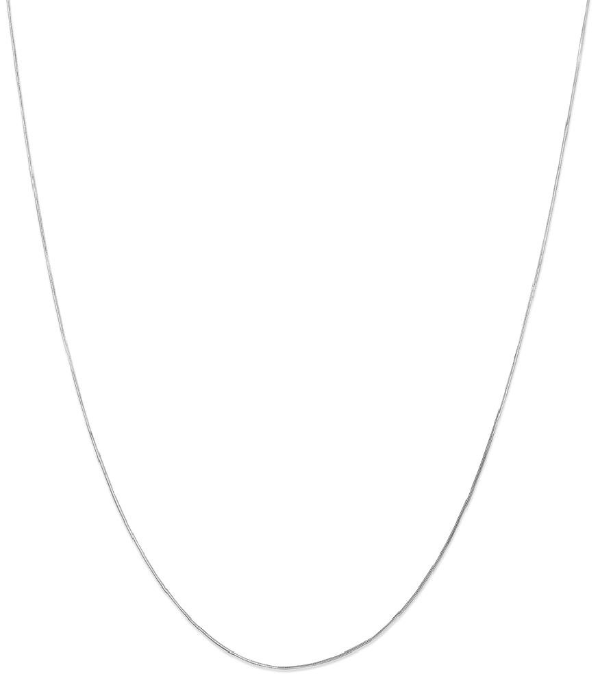 ICE CARATS 14k White Gold .70mm Octagonal Snake Chain Necklace 24 Inch Fine Jewelry Gift Set For Women Heart