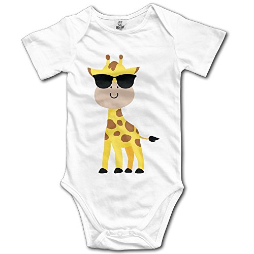 LiamP Baby Onesie Girl Boy Outfit Baby Bodysuit Jumpsuit Creeper Short Sleeve Giraffe Emoji Sunglasses - Boss Baby Sunglasses