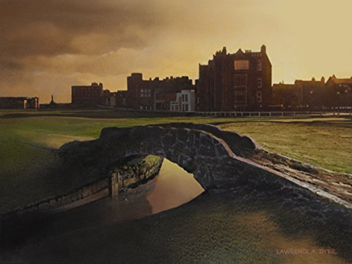 Swilcan Bridge St Andrews Links Golf Course Giclee Canvas Print Painting Lawrence Dyer Landscape Art 12