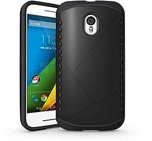 For Motorola Moto G3(Moto G 3rd Gen 2015) Armor Hybrid Rugged Hard Case Cover Black