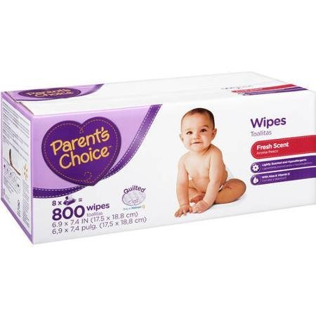 Affordable, Hypoallergenic Scented Baby Wipes, 800 Ct with Aloe, Cloth-like Material and Flip-top Container Lid