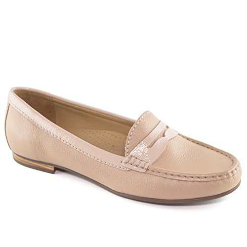 Driver Greenwich Brazil Grainy Leather Made Genuine Women's in Loafer Blush Club USA rqA48wrp