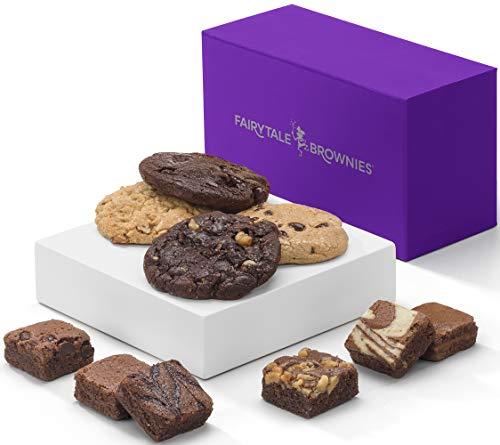 Fairytale Brownies Treasure Cookie & Magic Morsel Combo Gourmet Chocolate Food Gift Basket - 1.5 Inch x 1.5 Inch Bite-Size Brownies and 3.25 Inch Cookies - 10 Pieces - Item HF340