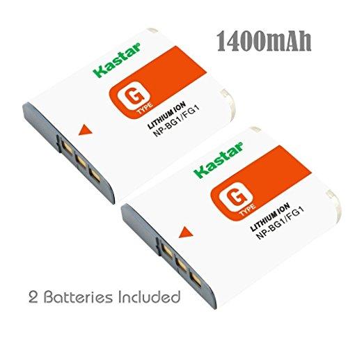 Kastar NP-BG1 Battery (2-Pack) for Sony NPBG1, NP-FG1, BC-CSG and Sony Cyber-Shot DSC-H50, Cyber-Shot DSC-H10, Cyber-Shot DSC-W120, Cyber-Shot DSC-W170, Cyber-Shot DSC-W300 Digital Cameras