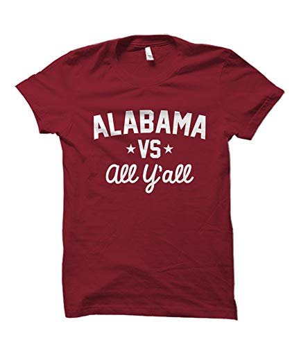 Alabama Versus All Y'all Collegiate T-Shirt (Crimson, 3XL)
