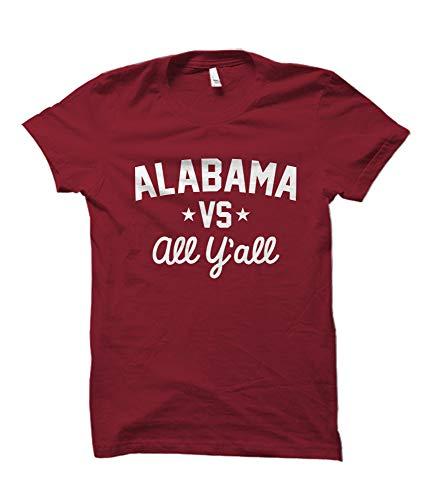 - Alabama Versus All Y'all Collegiate T-Shirt (Crimson, 2XL)