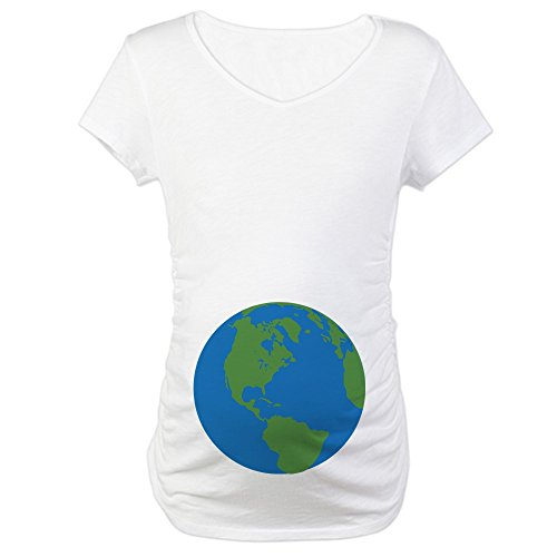 CafePress Halloween Planet Earth Cotton Maternity T-Shirt, Cute & Funny Pregnancy Tee -