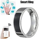 Bokoo NFC Universal Wear Smart Ring, Multifunctional Waterproof Intelligent Ring Smart Wear Finger Digital Ring for iPhone X XR XS MAX Huawei Mate 20pro (6#)