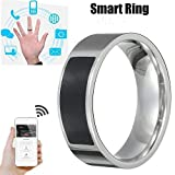 Bokoo NFC Universal Wear Smart Ring, Multifunctional Waterproof Intelligent Ring Smart Wear Finger Digital Ring for iPhone X XR XS MAX Huawei Mate 20pro (6#)
