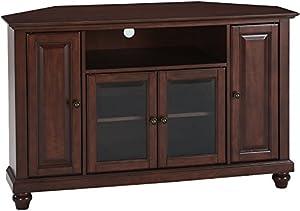 Amazoncom Crosley Furniture Cambridge Inch Corner TV Stand - Mahogany furniture