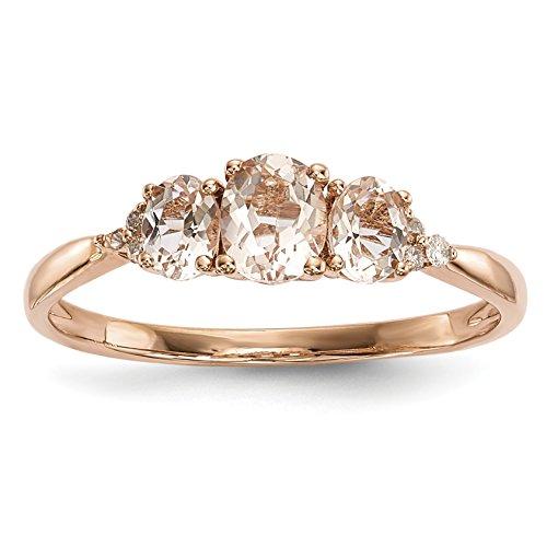chocolate diamond infinity ring - 8