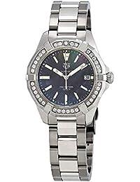 Aquaracer Black Mother of Pearl Dial Ladies Diamond Watch WAY131P.BA0748