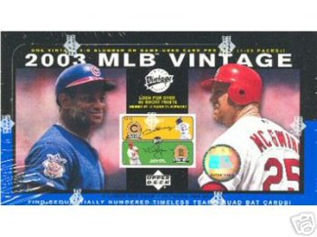 2003 UPPER DECK VINTAGE BASEBALL CARDS HOBBY BOX