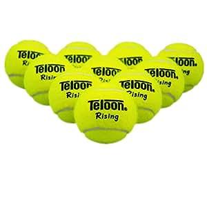 12 Pack Tennis Balls Reusable Pressureless Durable Fashion Sports Training Tennis Balls with Bag