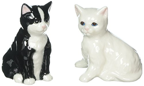 Cosmso Gifts 20759 Black and White Cats Salt and Pepper Shakers