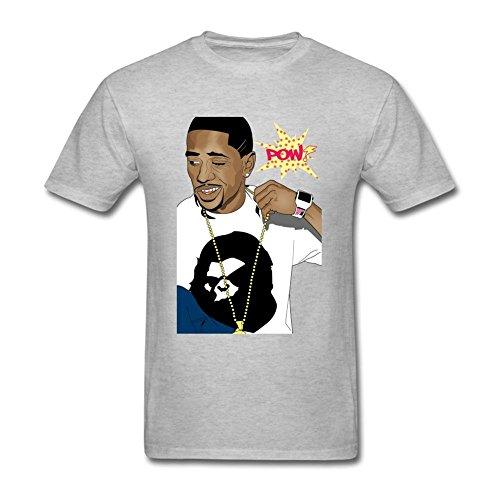 Price comparison product image SAMJOSPHT Men's Funny Big Sean T-shirt Size S Grey