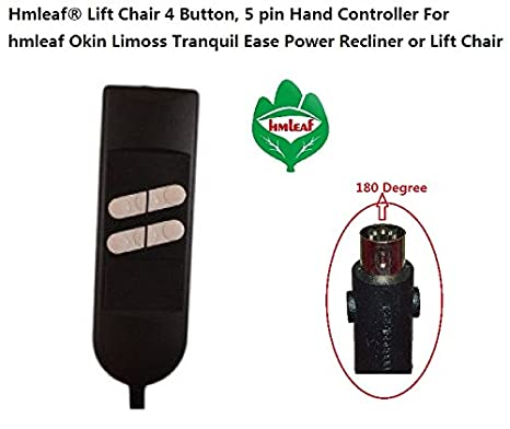 Hmleaf Lift Chair 4 on, 5 pin Universal Lighted Hand Controller For on