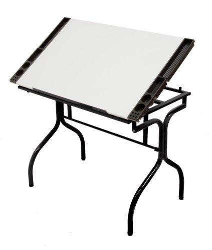 Studio Designs Folding Craft Station in Black with White 13221 by Studio Designs