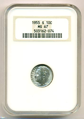 1955 S Roosevelt Dime MS67 NGC (Dimes Ms67)