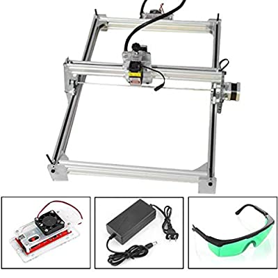 CNC Router Kit Laser Engraving Machine 100x100cm, Wood Carving Milling Engraving Machine For Plastic Acrylic PCB PVC + Laser Goggles, 3 Axis, 12V, 15W