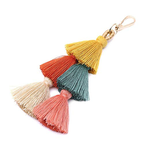 Pendant Charm Keychain for Women Colorful Keyring for Decoration 8'' ()