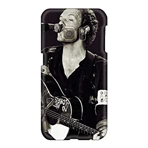 JohnPrimeauMaurice Samsung Galaxy S6 Bumper Hard Phone Cases Customized Nice Coldplay Band Skin [aRZ15774FUky]