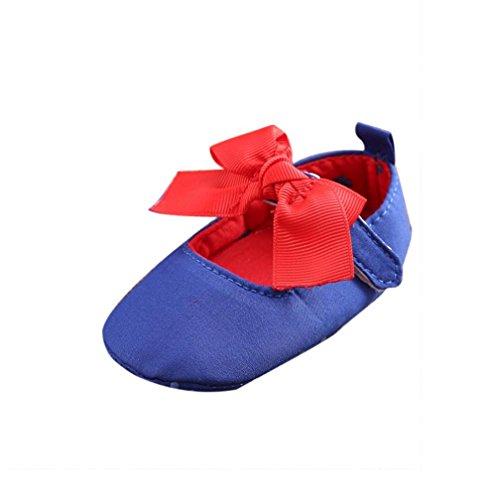 Babyschuhe Longra Baby Mädchen Bogen-Knoten Canvas Schuhe Sneaker rutschfest weiche Krippeschuhe Lauflernschuhe (0 ~ 18 Monate)