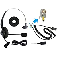 DailyHeadset RJ9 Corded Office Headset include bottom cable Compatible Cisco Unified IP Phone 79xx 69xx 89xx 99xx Series (Ref Below Listing Models)