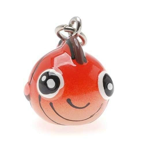(2 Adorable 3 Dimensional Resin Hand Painted Orange Puffy Fish Charms Jewelry Making Charms and Pendants )