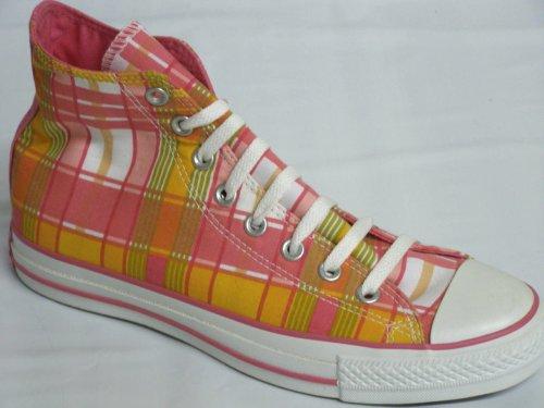 Converse Mujeres Ct As Prt Hi Zapatillas De Cuadros De Niña Us 8