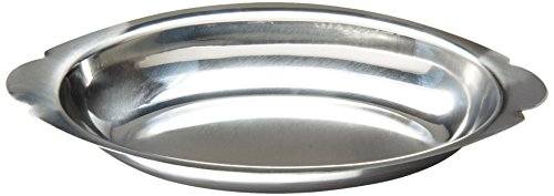 Winco ADO-15 Stainless Steel Oval Au Gratin Dish, 15-Ounce