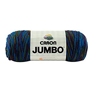 Caron Jumbo Ombre Yarn - (4) Medium Worsted Gauge 100% Acrylic - 12 oz -  Peacock  -  Machine Wash & Dry