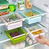 UR Kitchen Gadgets Plastic Kitchen Refrigerator Fridge Storage Rack Freezer Shelf Holder Kitchen Organization (1pc)