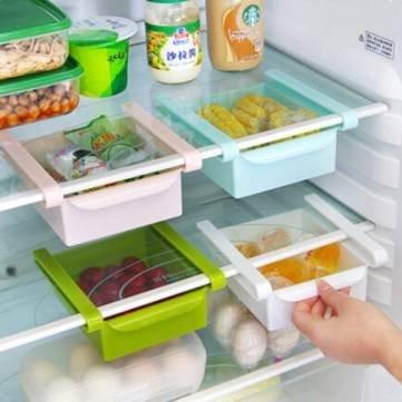 UR Kitchen Gadgets Plastic Kitchen Refrigerator Fridge Storage Rack Freezer Shelf Holder Kitchen Organization
