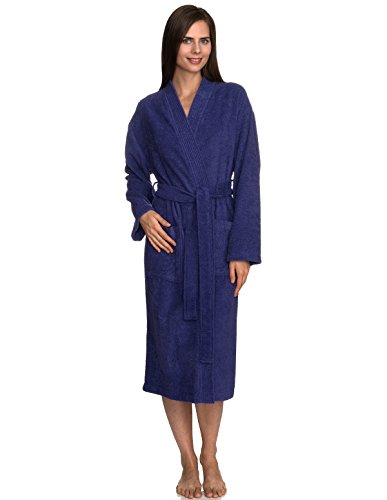 TowelSelections Women's Robe Turkish Cotton Terry Kimono Bathrobe Large/X-Large Liberty -