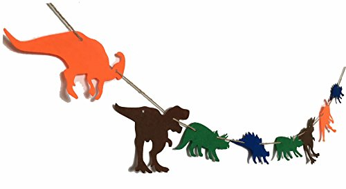 Alemon Dinosaurs Birthday Banner Decorations Party Supplies Pennant for Boys Kids Dinosaur Party Decorations