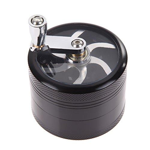 Tobacco Grinder Aluminum Herb Spice Crusher Muller Mill Hand Black - 4
