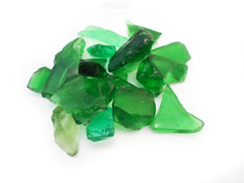 1/2 Lb (1 Cup) Emerald Green Decor Glass Pieces for Beach Crafts, Mosaic, Vase Filling and Table Scatter