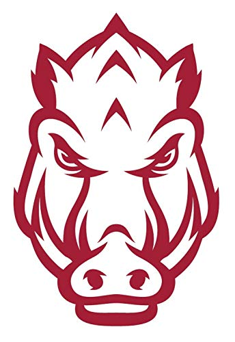 SellingDecals ncaa0569 Arkansas Razorbacks Mascot Head Die Cut Vinyl Graphic Decal Sticker Color Choice 8
