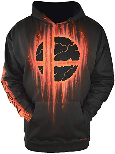 Gamer Gifts for Gamers Hand Airbrushed Super Smash Bros Ultimate Hoodie Adult XL Black