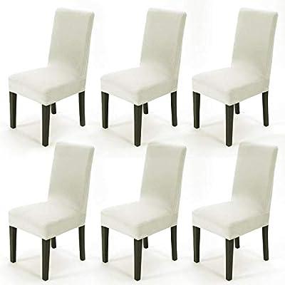 Pack de 6 Fundas para sillas Fundas sillas Comedor Elásticas ...