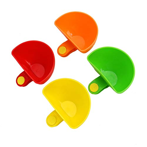 - WSSROGY 8 Pcs Dip Clip Bowl Holder Colorful Plastic Table Bowls Clip-on Dip Holders Restaurant Serving Dish Sauce Dipping For Tomato, Sauce, Salt, Vinegar, Sugar, Spices - Dip Bowl Party Ware