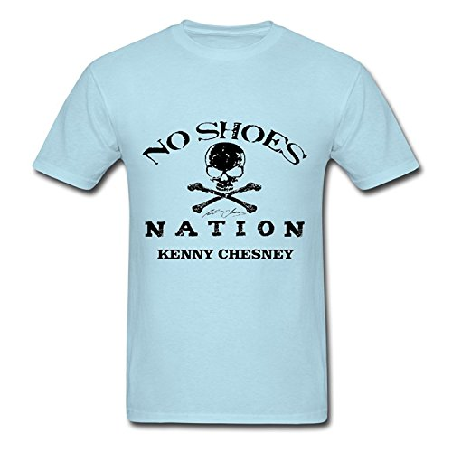 Nation Adult T-shirt - swiffers Mens Adult Kenny Chesney No Shoes Nation Summer Tees Blue X-Large