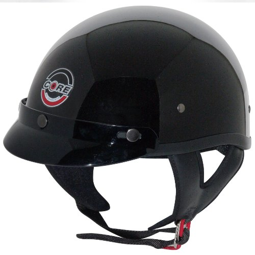 Core Cruiser Shorty Half Helmet (Gloss Black, -